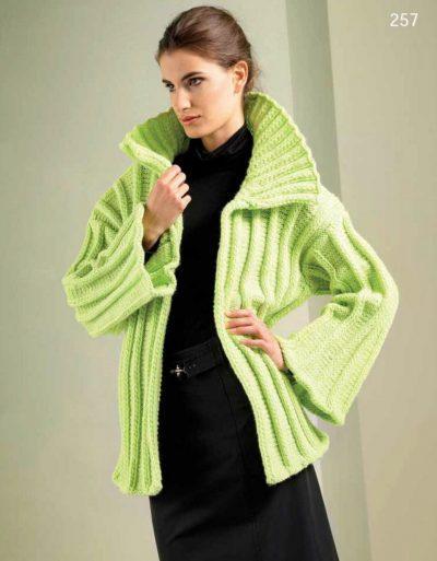 Шикарный зеленый жакет