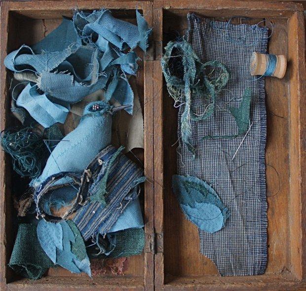 Винтажные птицы из ткани и кружев от Ann Wood.