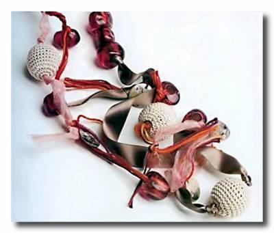 Вязаное ожерелье. Вязание крючком.
