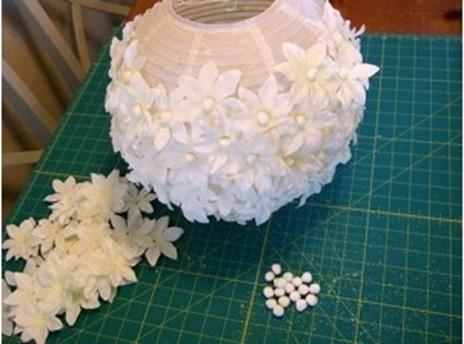 круглый бумажный светильник