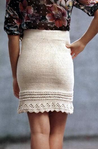 Вязаная юбка с подиума