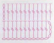 схема узора крючком из столбиков без накида