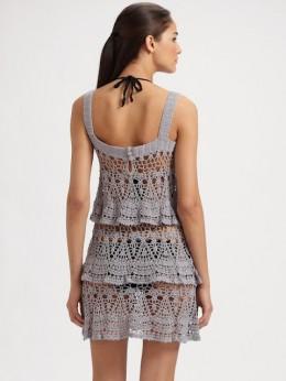 Платье крючком из хлопка