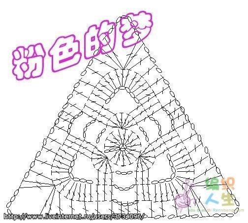 Блузка из треугольников крючком