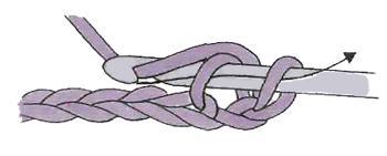 вязание полустолбика крючком