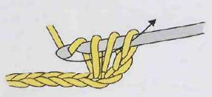 вязание прочного столбика крючком