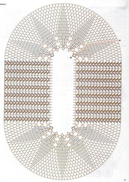 Схема круглого коврика ыв туалет