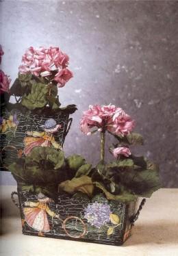 техника декупаж ваза с цветами
