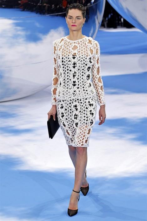 Вязаный костюм Christian Dior