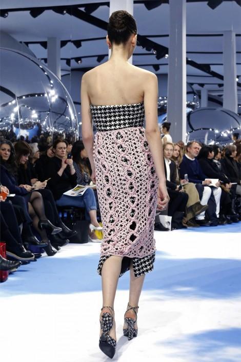 Вязаный костюм и юбка | Christian Dior Зима 2013/14