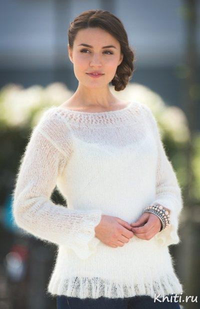Пуловер из тонкого мохера