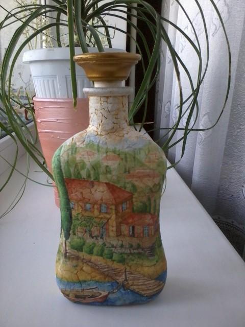 Декорирование бутылки. МК.