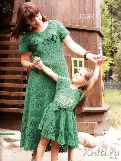 Платье маме и дочке