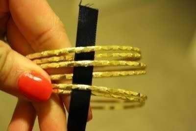 Плетение браслета с ленточкой