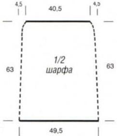 Шарф-хомут (снуд) схема вязания обазначения