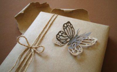 Бабочки из бумаги скрап