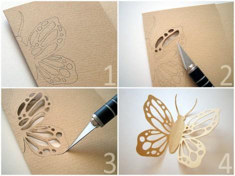 Бабочки из бумаги скрапбукинг как делать?