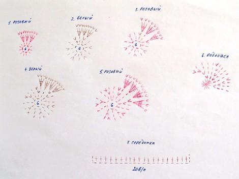 вязаные цветы крючком схема фото