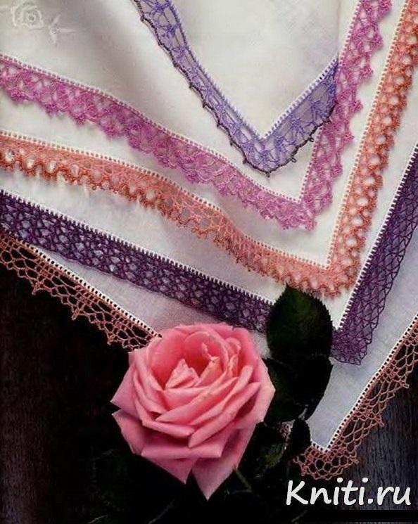 Обвязанный крючком носовой платок