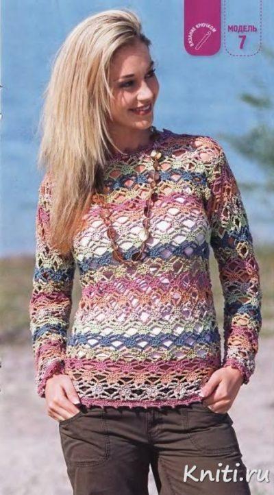 Летний пуловер 2013