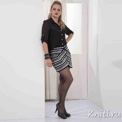 Стильная трикотажная юбка