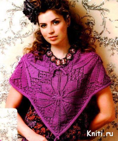 Накидка вязание спицами
