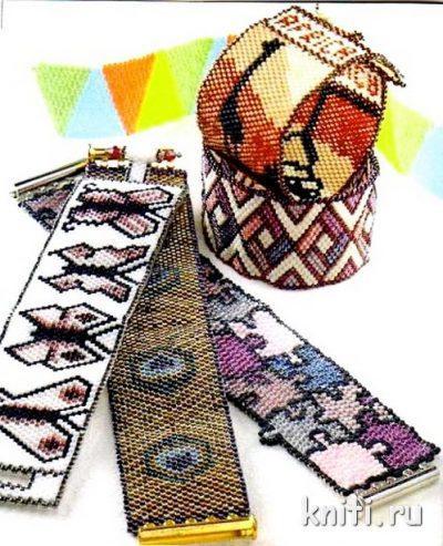 Схемы плетения браслетов из бисера