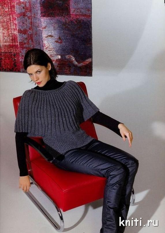 Пуловер серого цвета