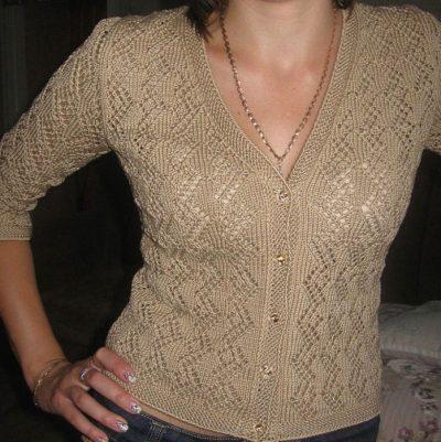 Кофточка вязание спицами