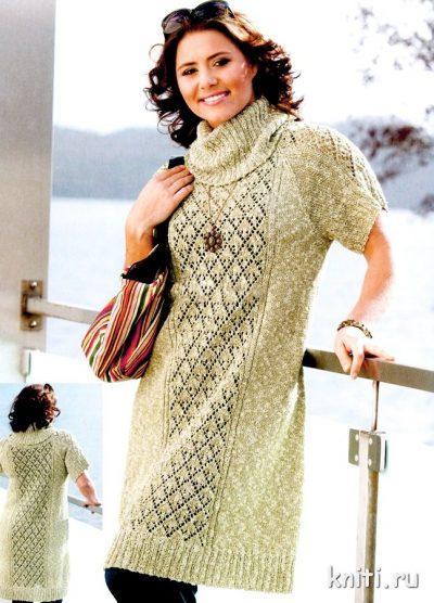 Платье для полных вязание спицами