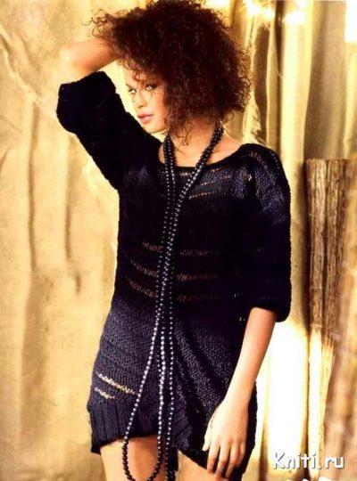 Платье с широкой планкой