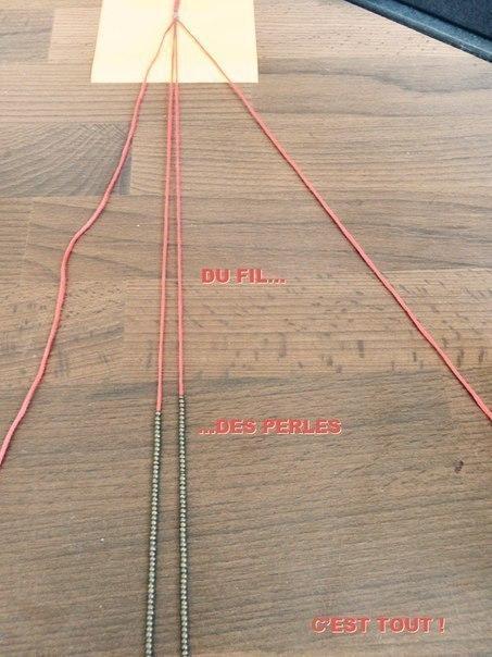 Плетение браслетов из ниток