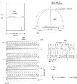 Схема шапки и шарфа