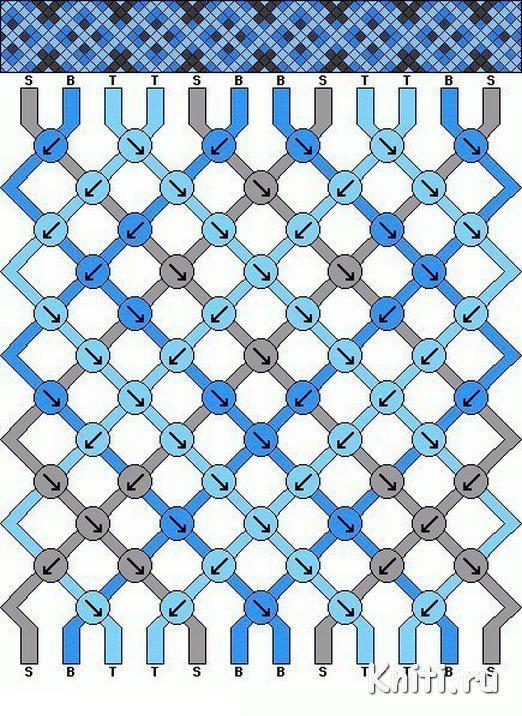 Фенечки из ниток схема трех цветная