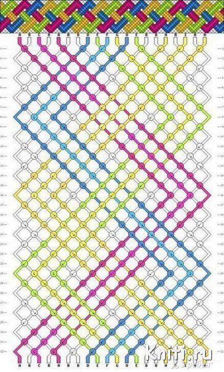 Фенечки из ниток схема цветная