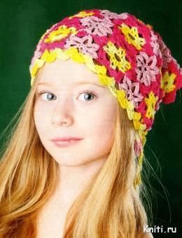 Косынка для девочки из цветов