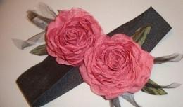 роза из ткани