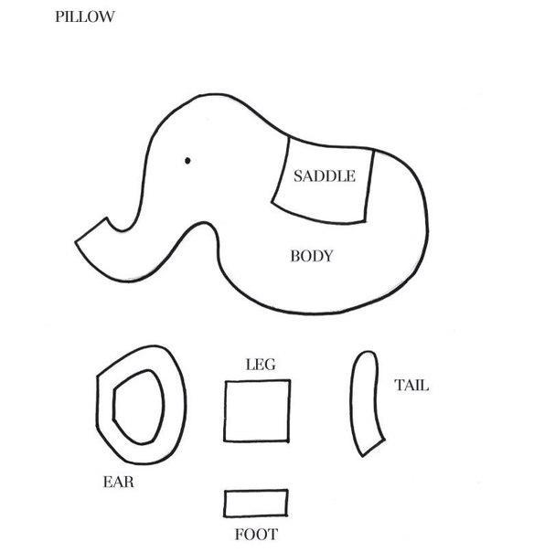 подушка слоник выкройка
