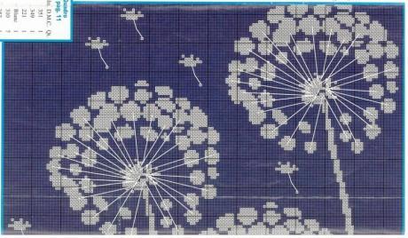 Вязаный свитер с одуванчиками, схемы вязания теневых узоров