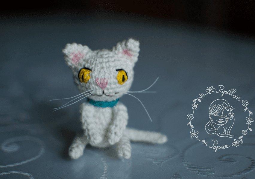 Амигуруми котенок крючком