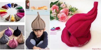 шапка луковка, завиток, улитка